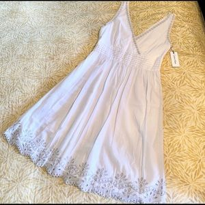 Calvin Klein white and silver summer dress 12 NEW
